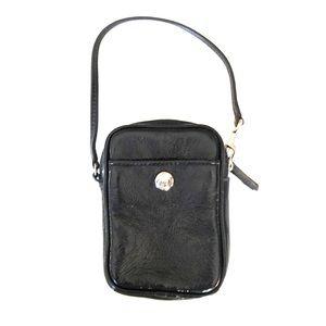 Black leather Coach change purse.